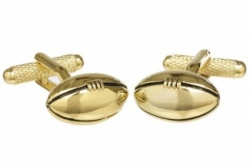 Gold Colour Rugby Ball Cufflinks